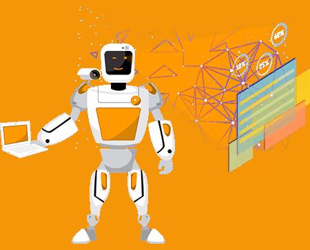 Advertising Logo Robot
